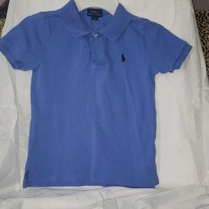 Toddler boy sky blue polo shirt